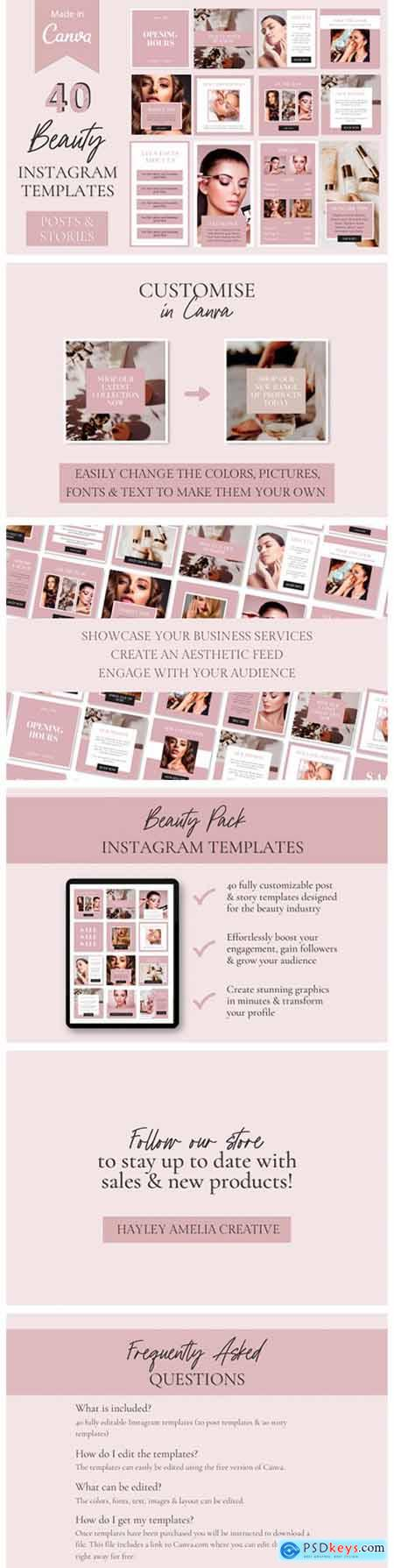 40 Instagram Hair & Beauty Templates 8759706