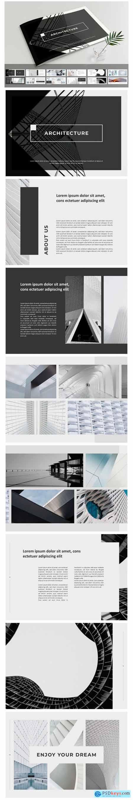 Unique Architecture Brochure Template 8825481