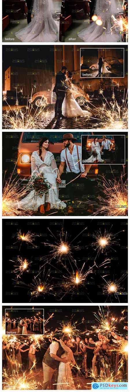 Sparkler Overlay & Photoshop Overlay 8554789