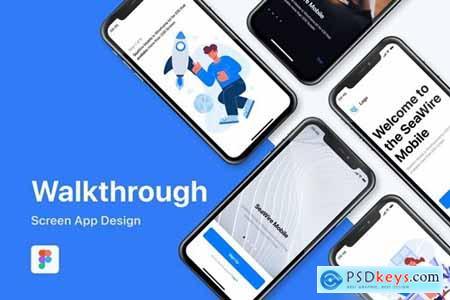 Walkthrough Mobile App Screen Template