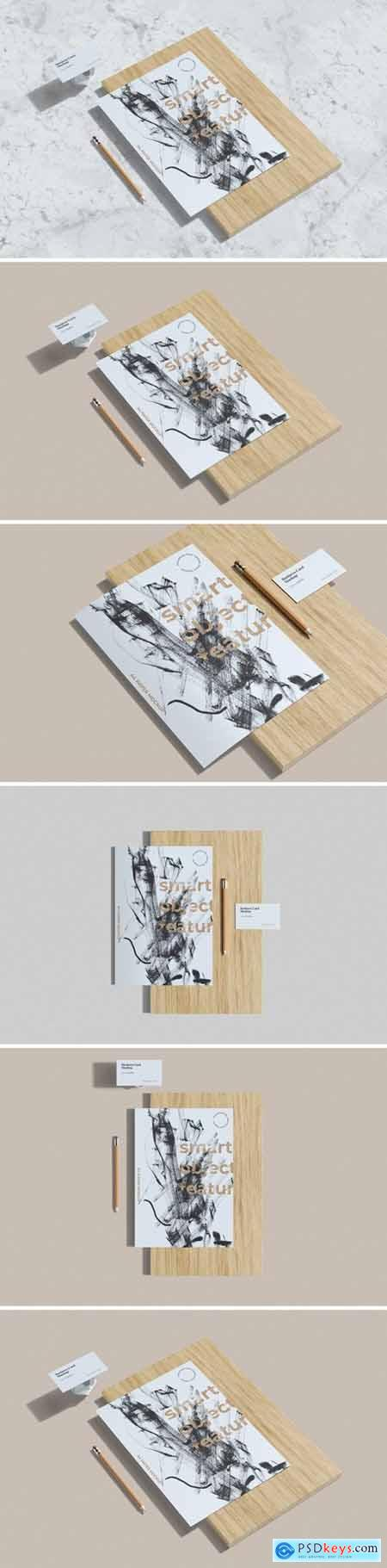 Business Card and A4 Paper Mockups