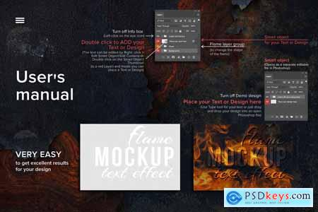 Flame text effect - MockUP 5794691