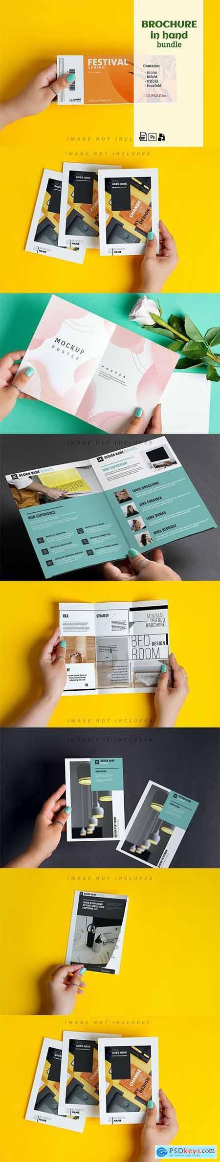 Brochure Mockup in Hand Kit