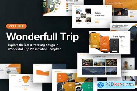 Wonderfull Trip Travel Presentation Template