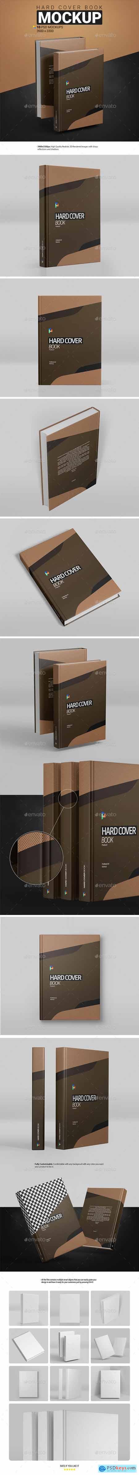 Hard Cover Book Mockup 30353249