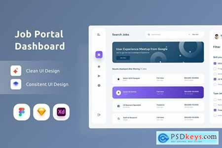 Job Platform Dashboarrd UI Kit