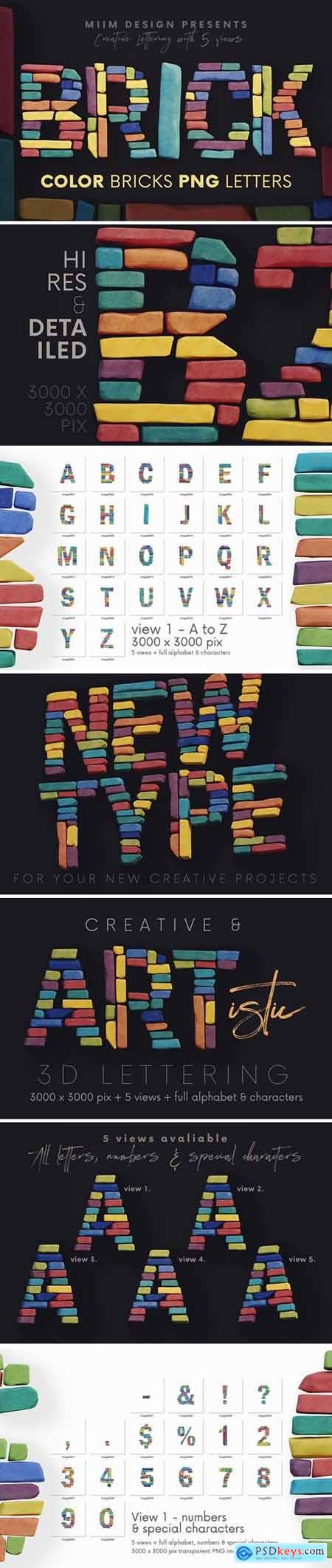 Color Bricks - 3D Lettering