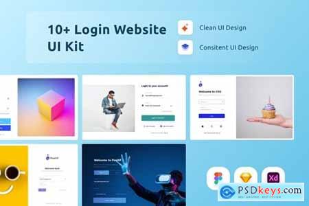 10 Websitee Login UI Kit