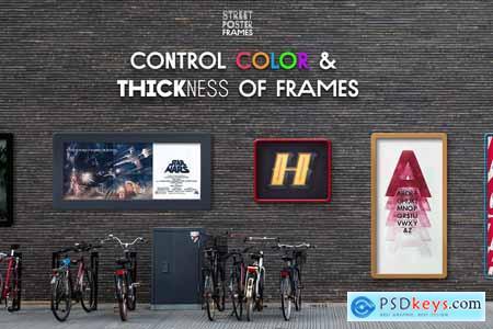 Street Poster Frames - 35 mockups 3362780