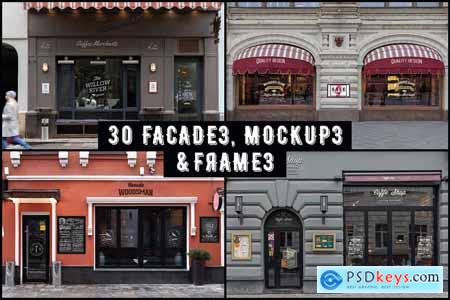 60 Signs, Facades and Frames mockups 3655185