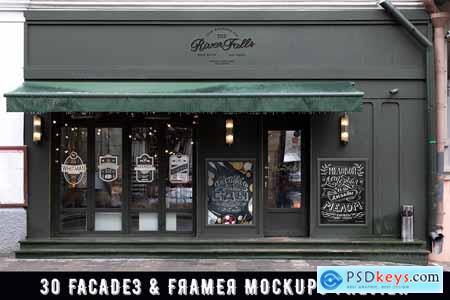 60 Signs, Facades and Frames mockups 3655185
