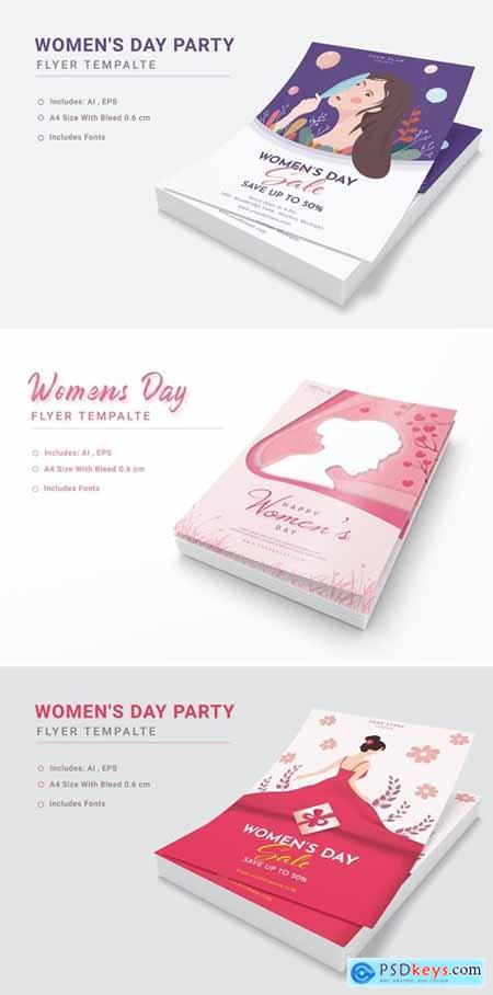 Happy Womens Day Poster Template
