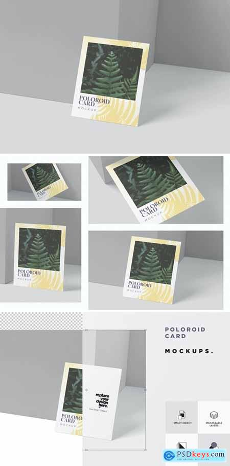 Polaroid Card Mockups