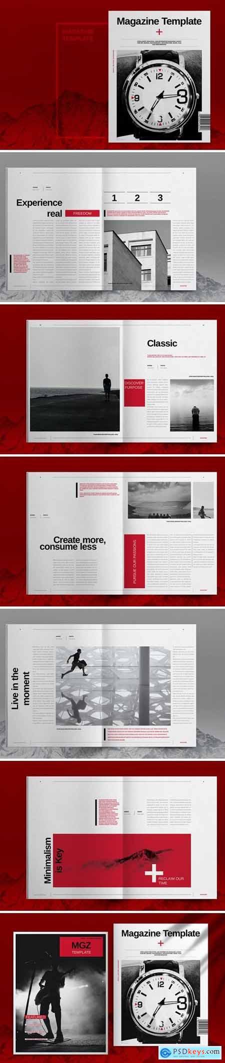 Swiss Style Magazine Template