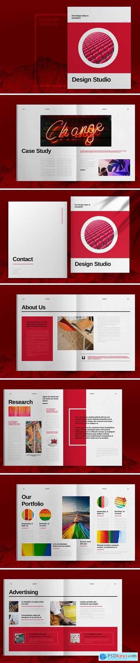 Red Studio Brochure Template