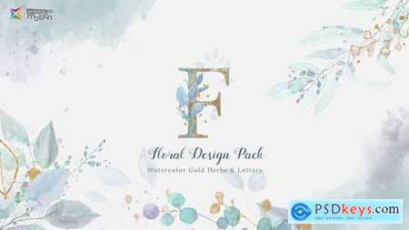 Floral Watercolor Design Pack 27021174