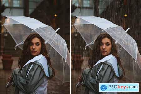 50 Realistic Rain Overlays 5930148