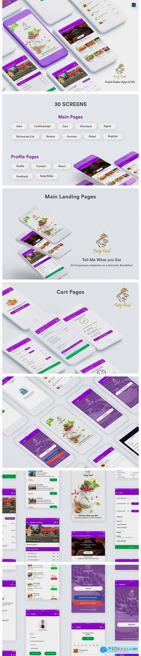 Online Food Order Mobile App UI Kit 9068977
