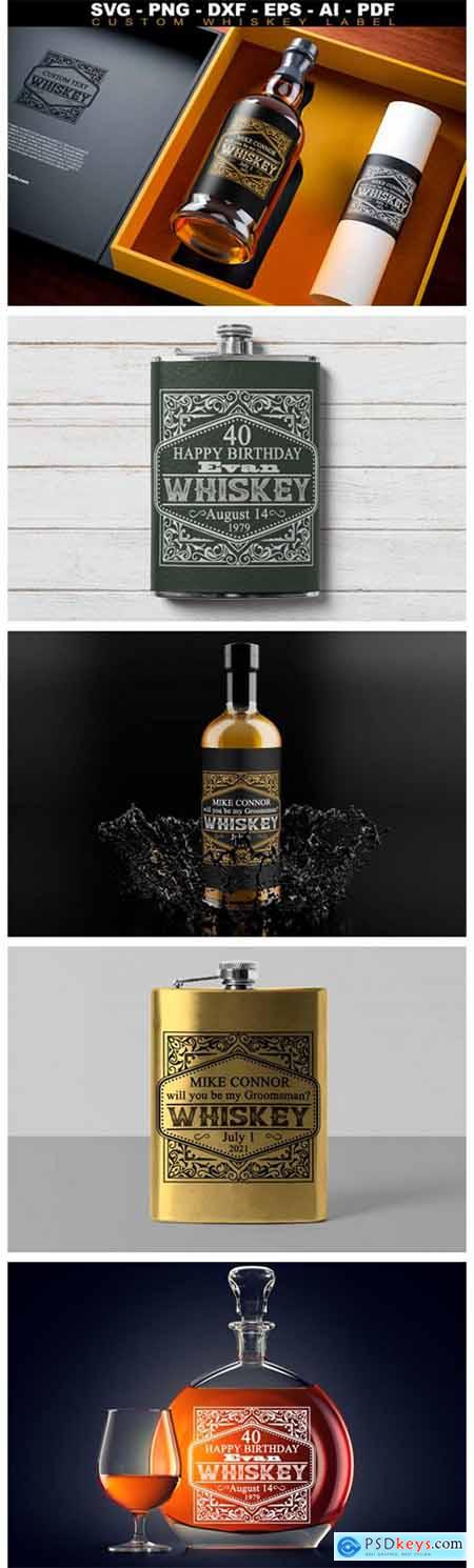 Custom Whiskey Label SVG Groomsman Label 9119643