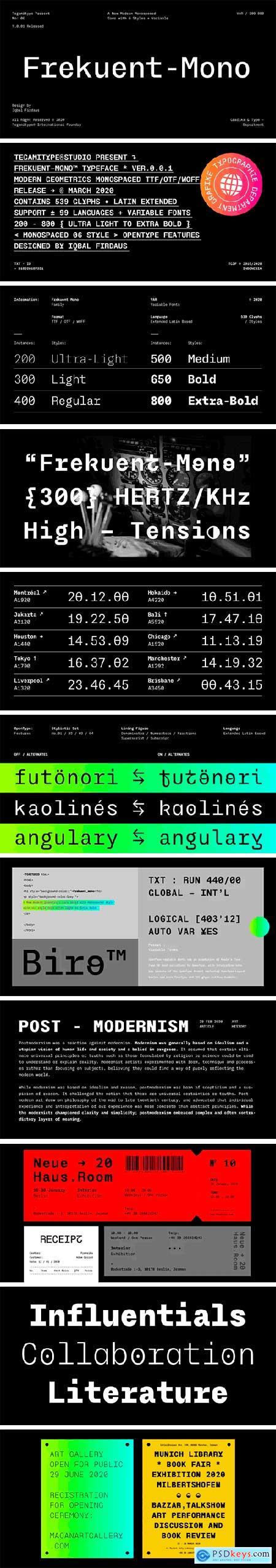 TG Frekuent Mono Font Family