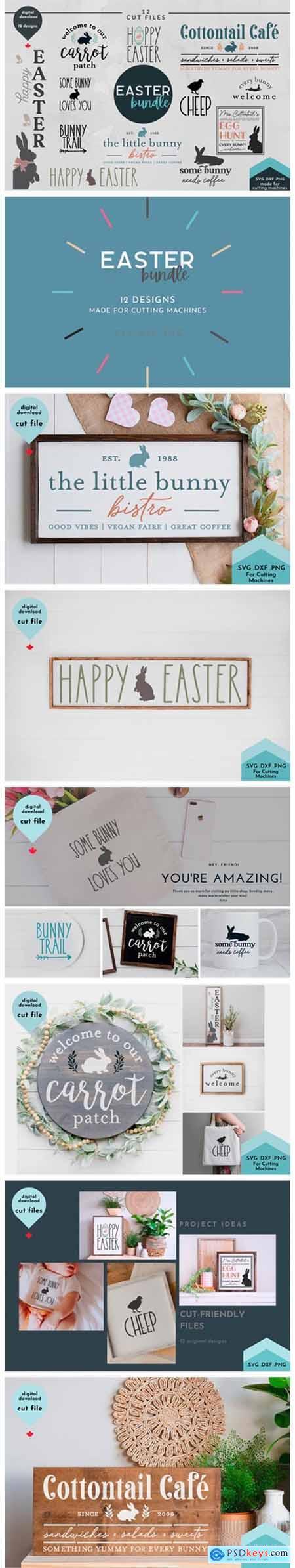 Easter Bundle - 12 Spring Cut Files 8561785