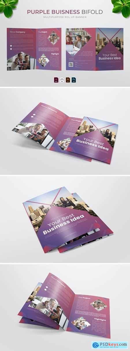 Purple Business - Bifold Brochure