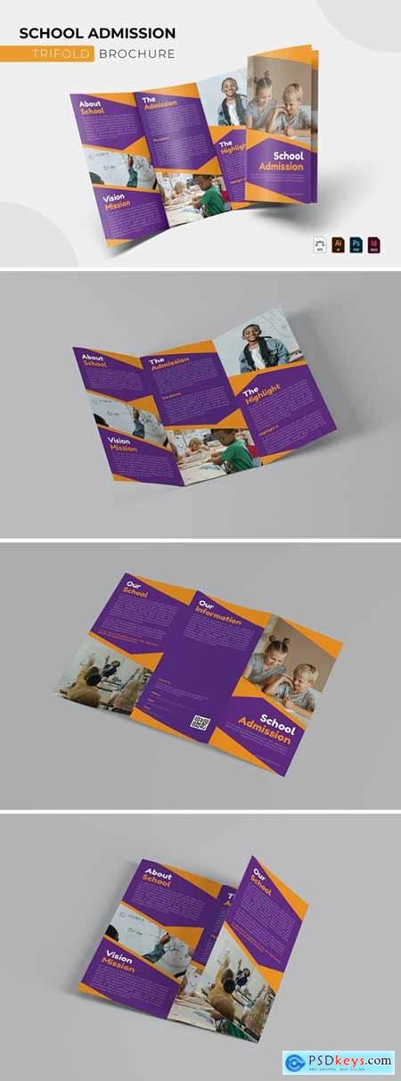 School Admission - Trifold Brochure
