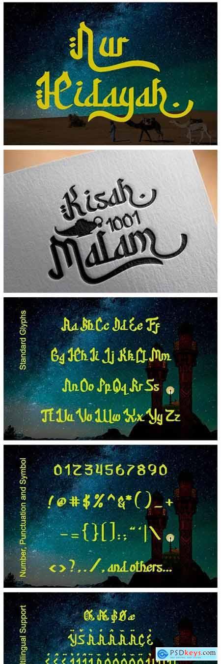 Nur Hidayah Font