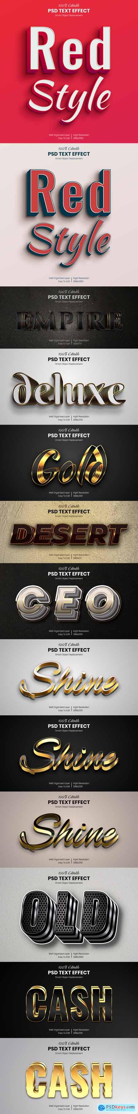 13 Photoshop Text Effects - Luxury Styles 30702118