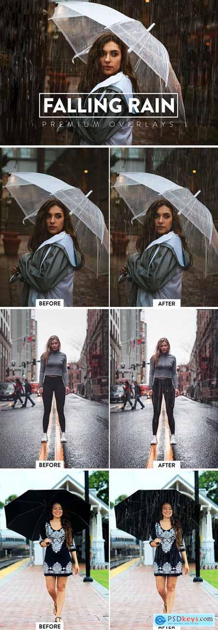 50 Realistic Rain Overlays