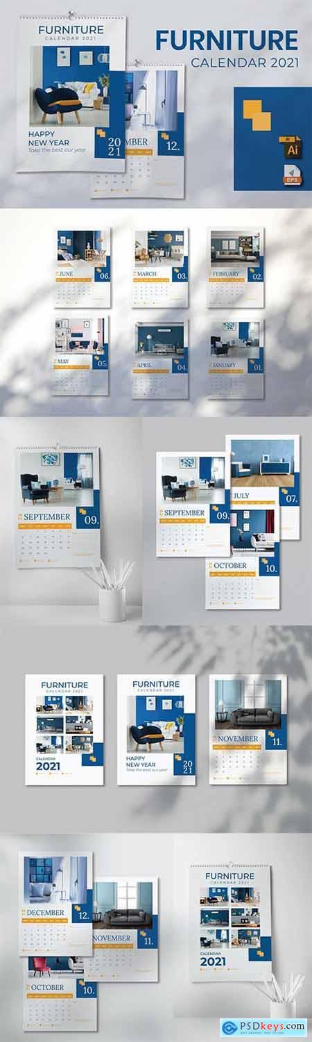 Calendar Furniture 2021 A3