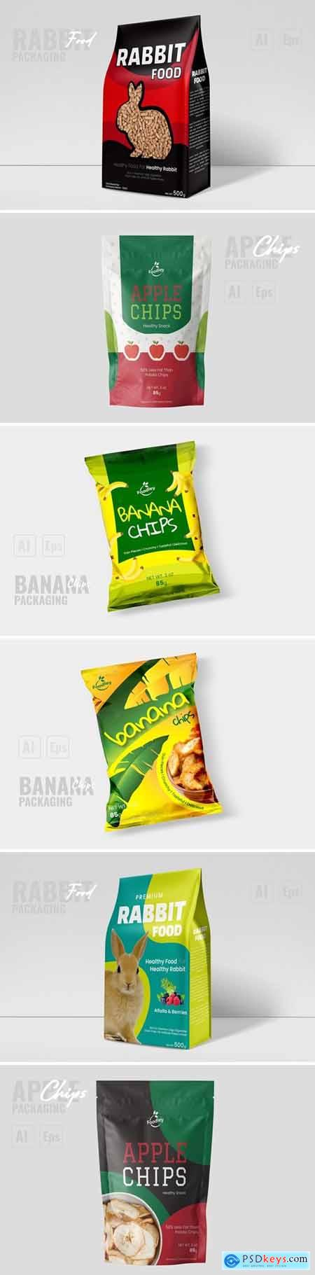 Modern Apple Chips Packaging