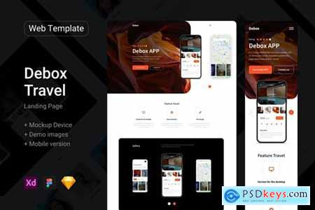 Debox – landing page for travel agency