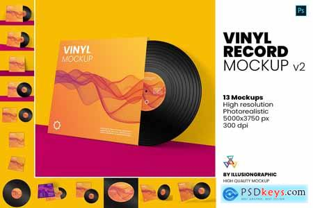 Vinyl Record Mockup v.2 5847202