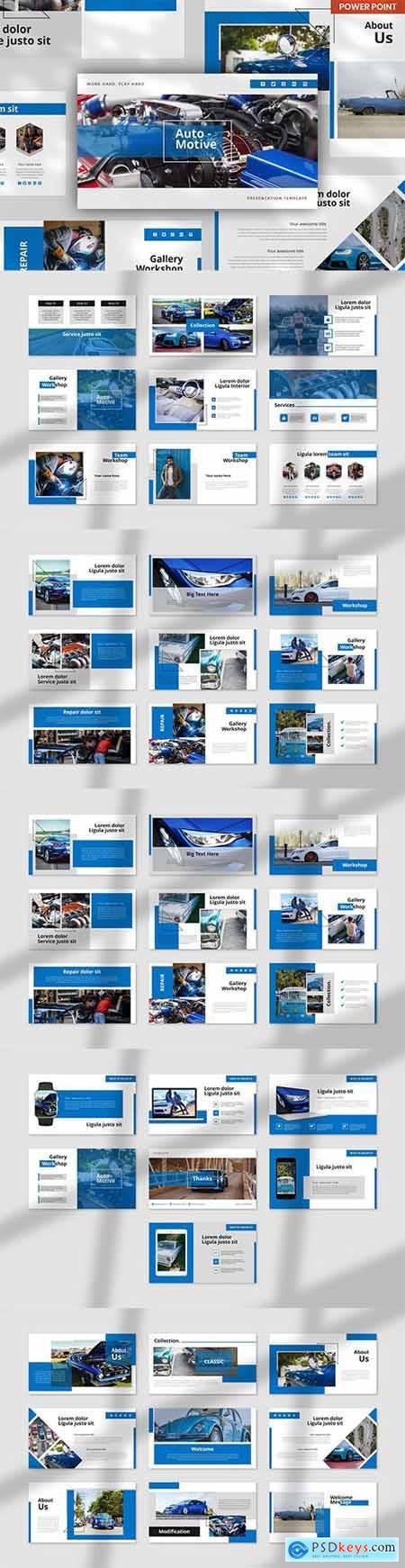 Autocar Automotive - PowerPoint, Keynote and Google Slides Template