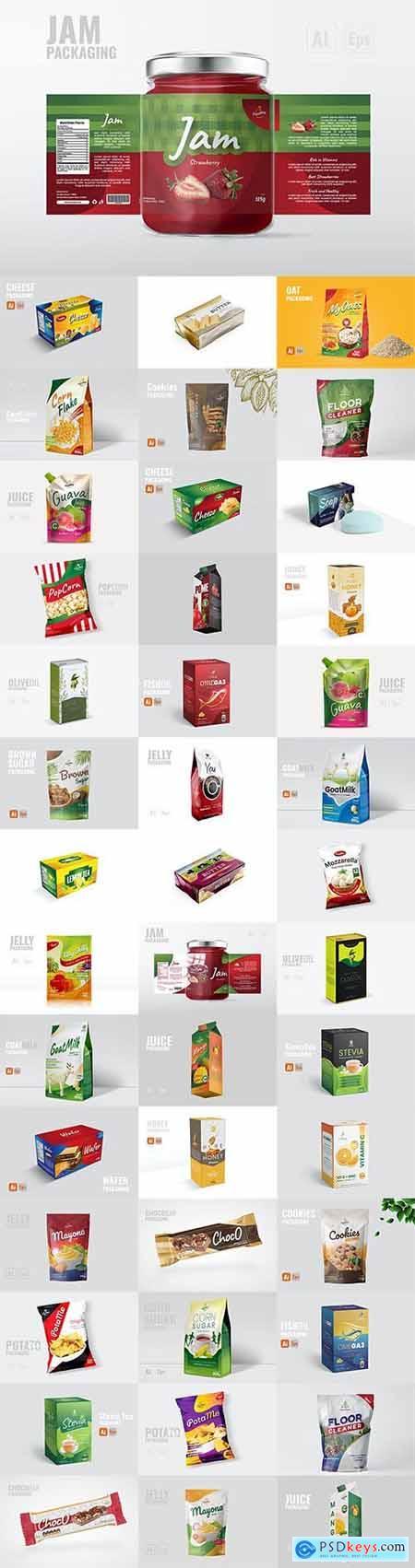 54 Vector Packaging Design Templates