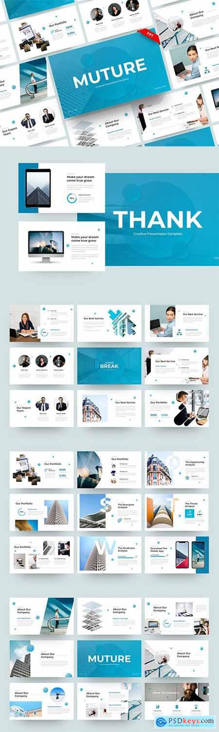 Muture - Creative PowerPoint, Keynote and Google Slides Template