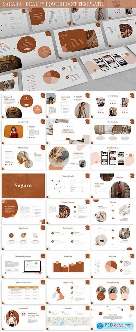 Sagara - Beauty Powerpoint Template