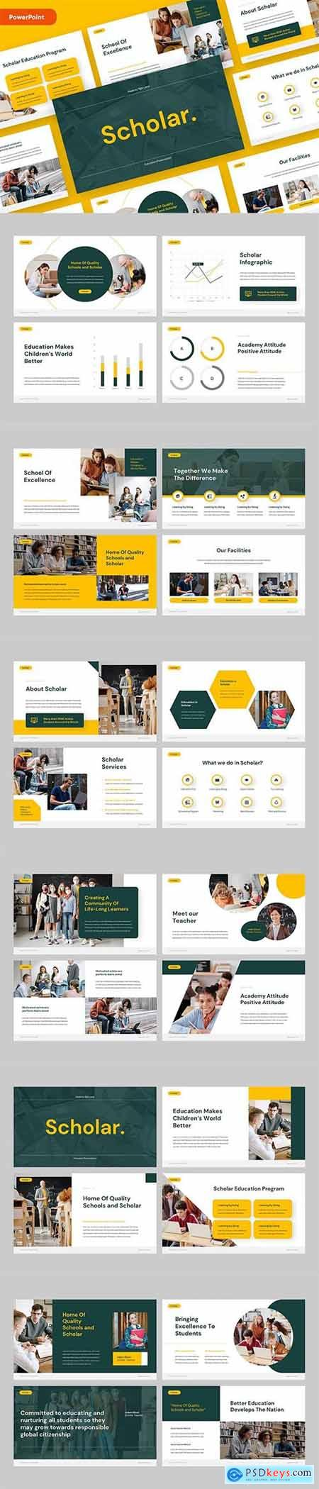 SCHOLAR - Education PowerPoint, Keynote and Google Slides Template