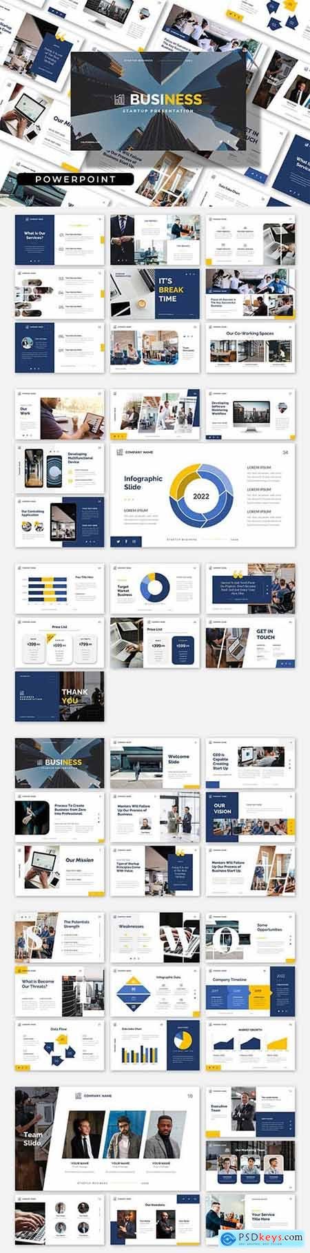 BUSINESS - Start Up Clean PowerPoint, Keynote and Google Slides Template