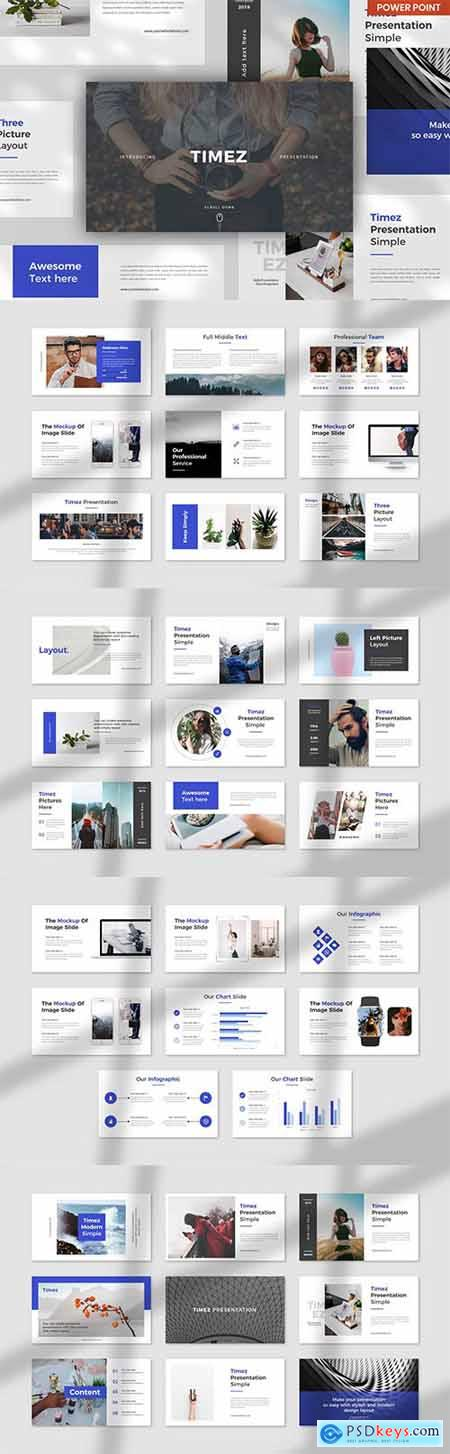 Timez Mnml PowerPoint, Keynote and Google Slides Template