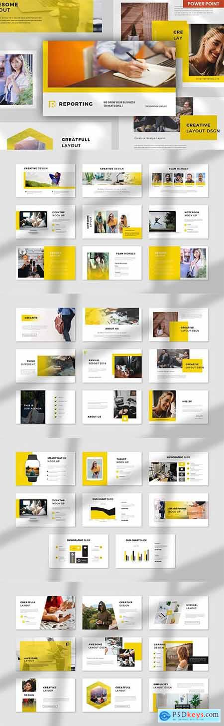Report Creative Business - PowerPoint, Keynote and Google Slides Template