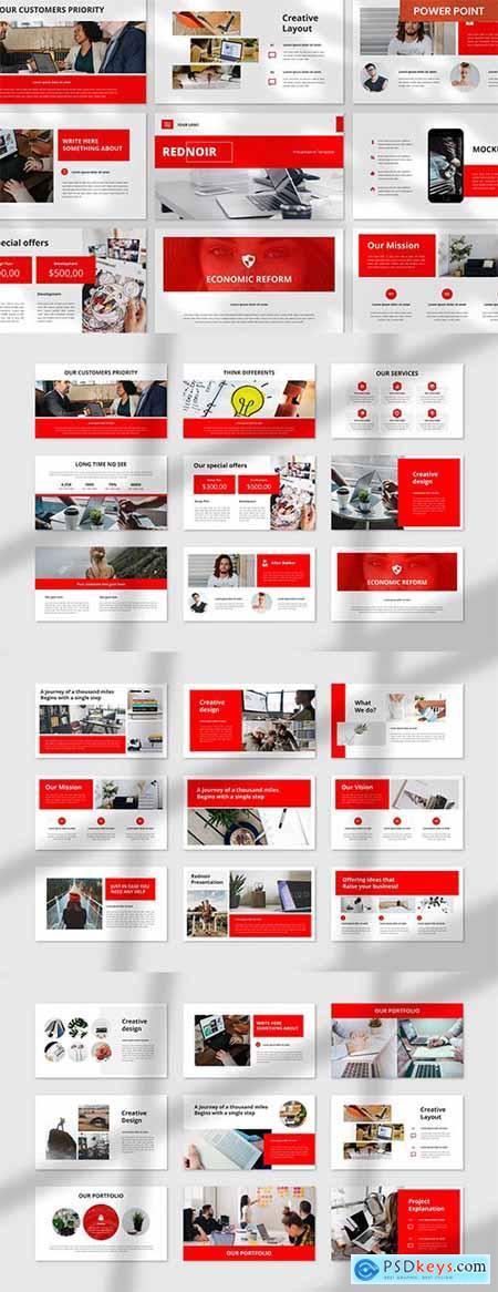 Rednoir PowerPoint, Keynote and Google Slides Template