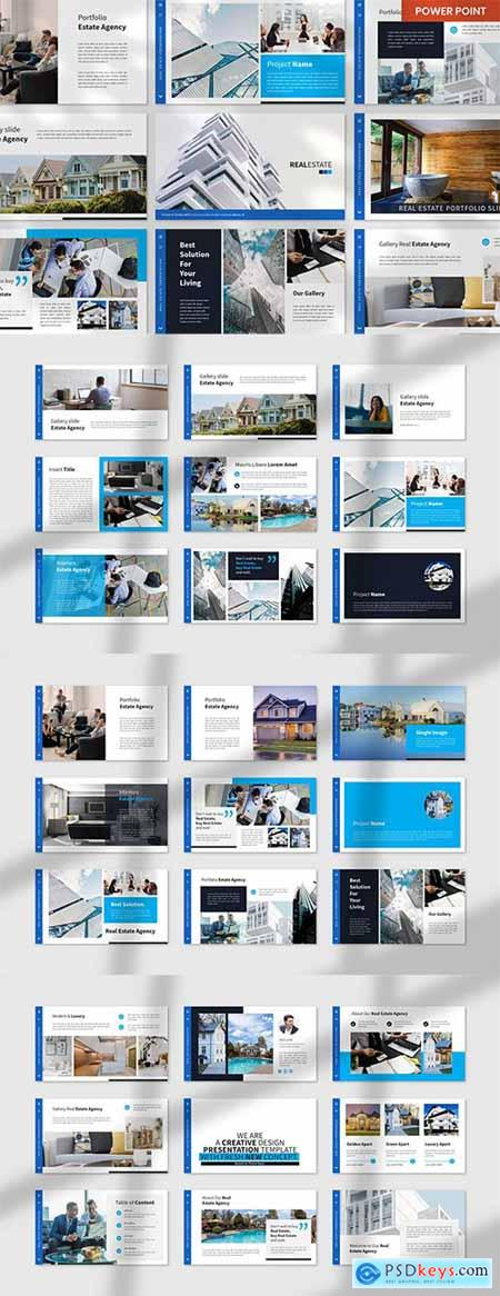 Real Estate PowerPoint, Keynote and Google Slides Template