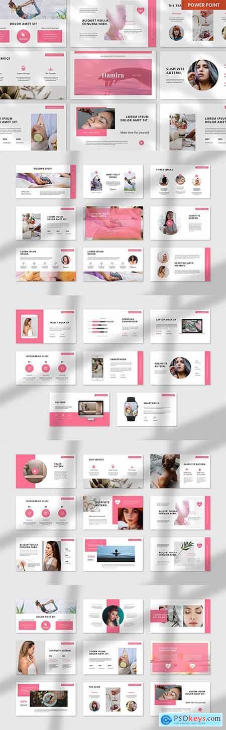 Hamira Spa & Wellness PowerPoint, Keynote and Google Slides Template