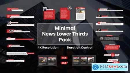 Minimal News Lower Thirds Pack 28006846