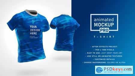 Animated Mockup PRO- 360 Animated T-shirt Mockup Template 30892735