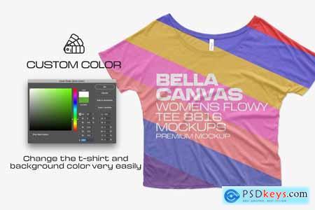 Bella Canvas Flowy Tee 8816 Mockups 5959450