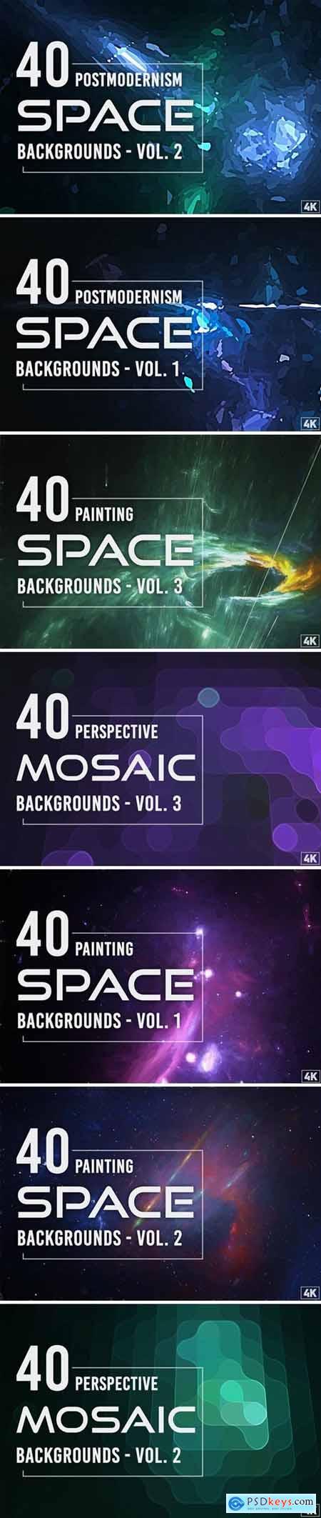 Perspective Mosaic Backgrounds Bundle