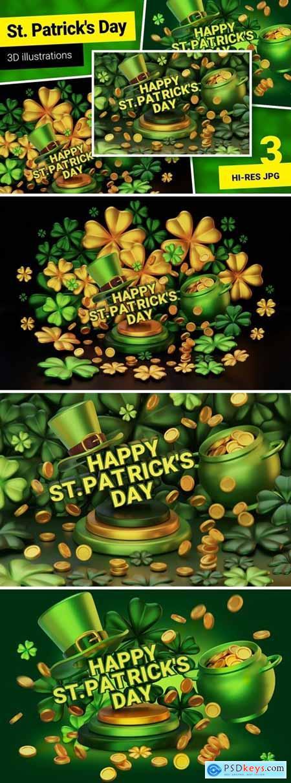 St Patricks Day - 3d illustrations